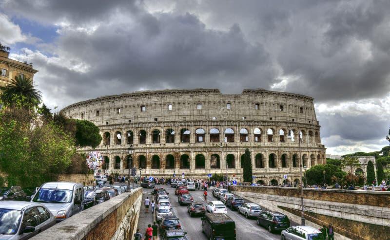 Cityscape van Rome in oktober - Italië, - 5 Oktober, 2018 stock foto's