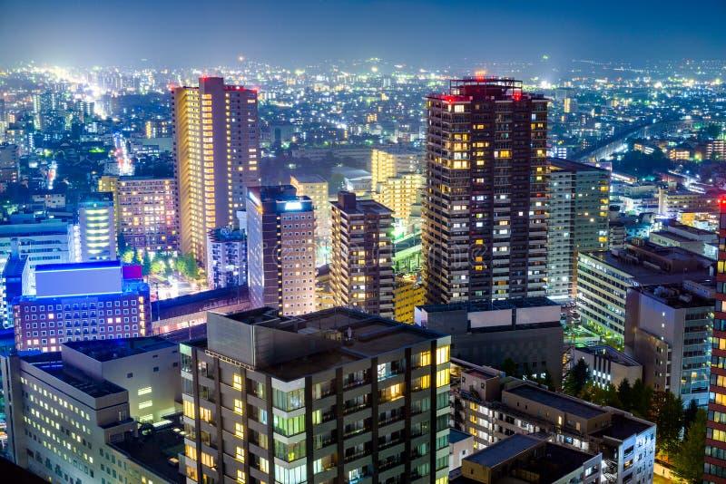 Cityscape van Sendai Japan royalty-vrije stock afbeeldingen