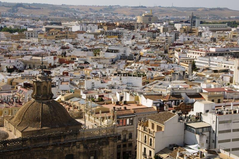 Cityscape van Sevilla stock afbeelding