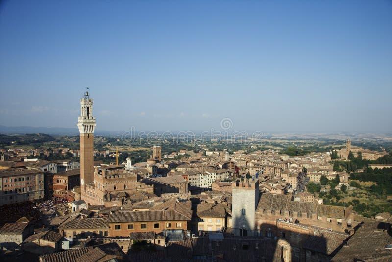 Cityscape van Siena stock foto's
