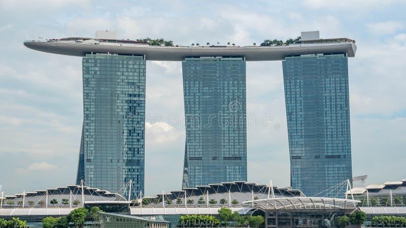 Cityscape van Singapore centraal bedrijfsdistrict en de financiële bouw van de stad van Singapore royalty-vrije stock fotografie