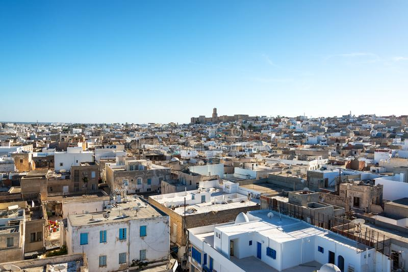 Cityscape van Sousse, Tunesië stock fotografie