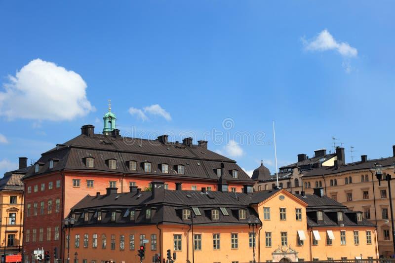 Cityscape van Stockholm. stock afbeeldingen