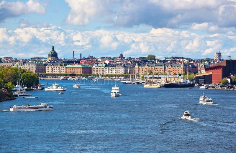 Cityscape van Stockholm stock afbeeldingen