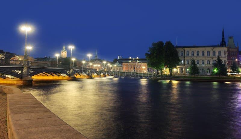 Cityscape van Stockholm stock afbeelding