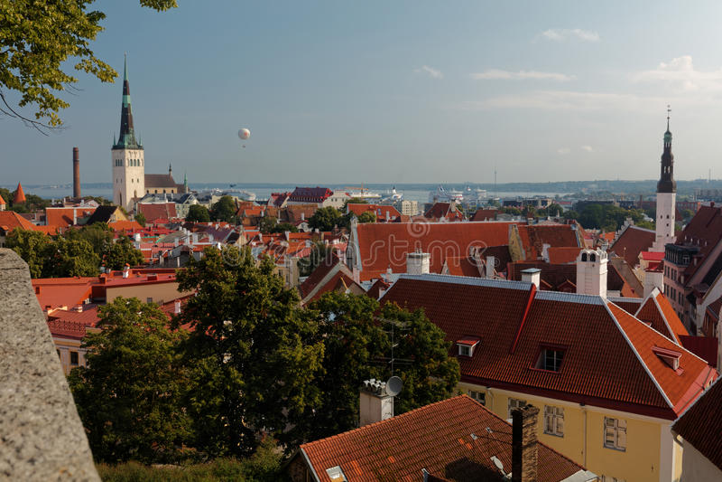 Cityscape van Tallinn, Estland royalty-vrije stock afbeeldingen