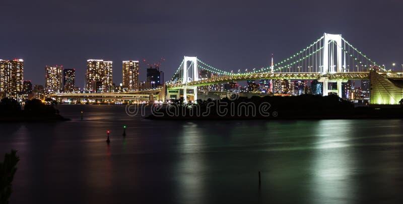 Cityscape van Tokyo het gebied van Odaiba royalty-vrije stock afbeelding