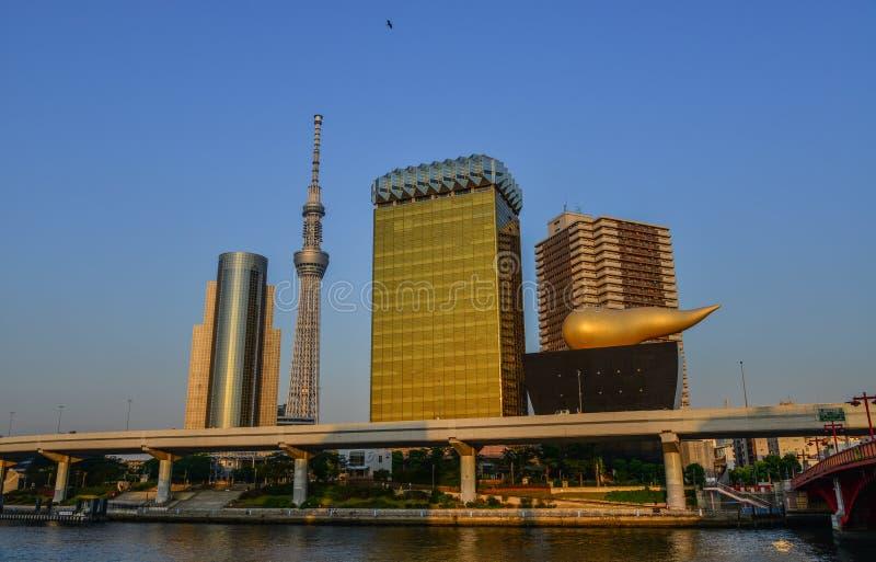 Cityscape van Tokyo, Japan stock afbeelding