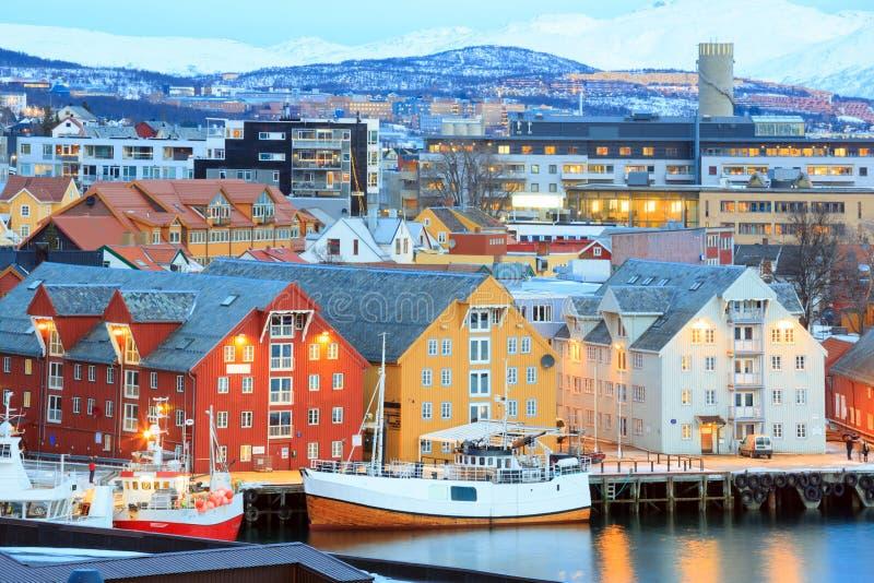 Cityscape van Tromso royalty-vrije stock foto's