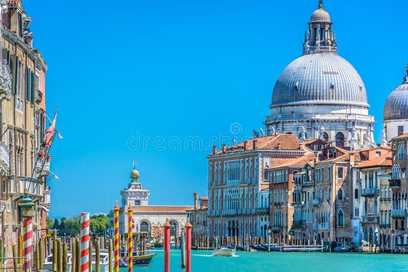 Cityscape van Venetië van boot, Italië royalty-vrije stock fotografie