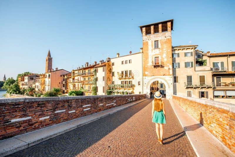 Cityscape van Verona mening royalty-vrije stock afbeelding