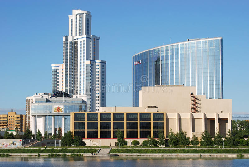 Cityscape van Yekaterinburg royalty-vrije stock afbeeldingen