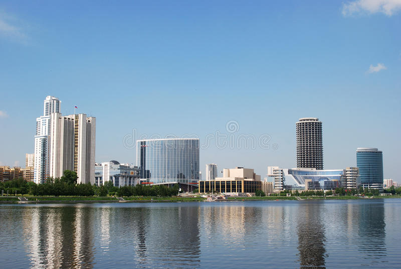 Cityscape van Yekaterinburg royalty-vrije stock fotografie