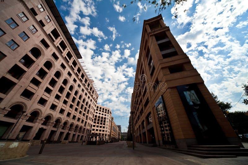 Cityscape van Yerevan Hoofdstad van Armenië royalty-vrije stock afbeeldingen