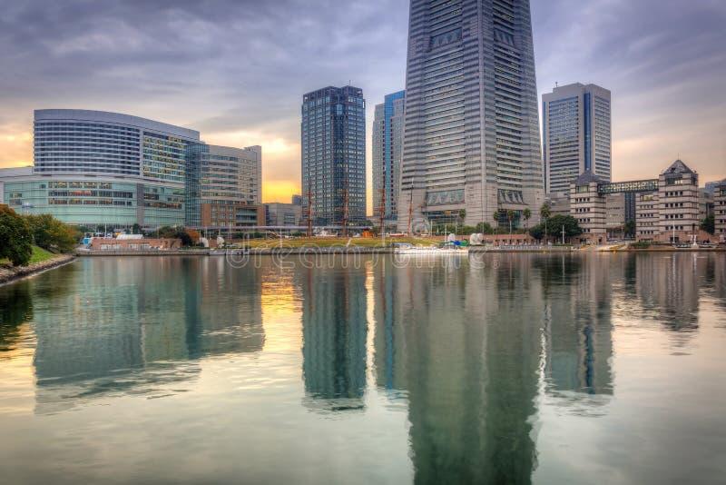 Cityscape van Yokohama, Japan stock foto's