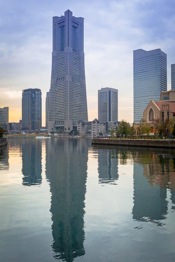 Cityscape van Yokohama, Japan stock afbeeldingen