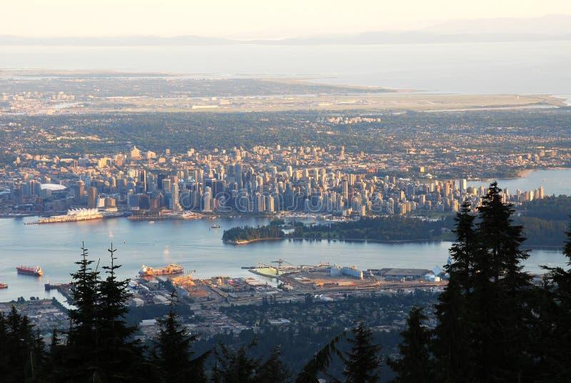 cityscape vancouver royaltyfria foton