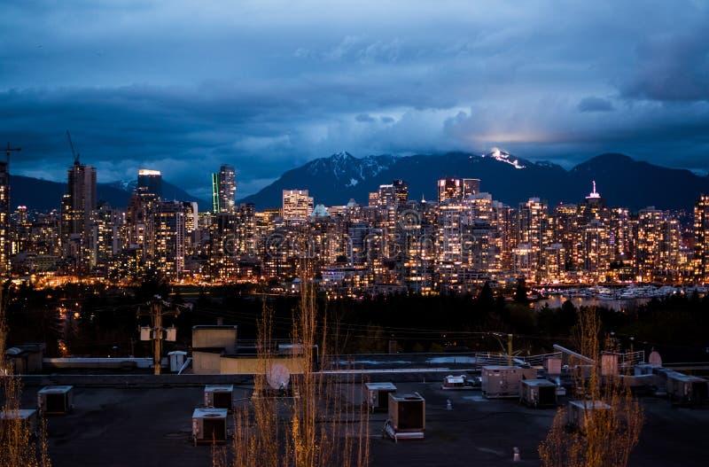 Cityscape of Vancouver, Canada stock photos