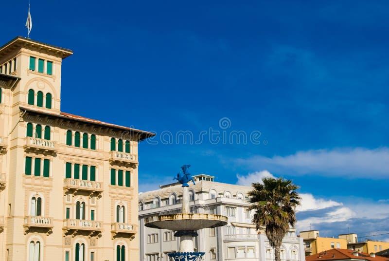 Cityscape, Viareggio Toscanië stock foto's