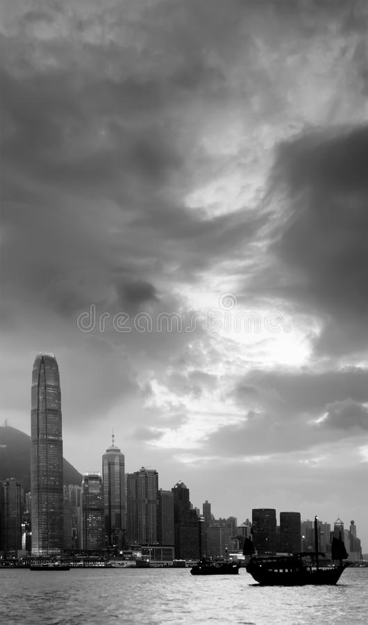 Cityscape of Victoria harbor royalty free stock photography