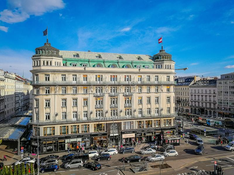 Cityscape of Vienna Austria stock photo