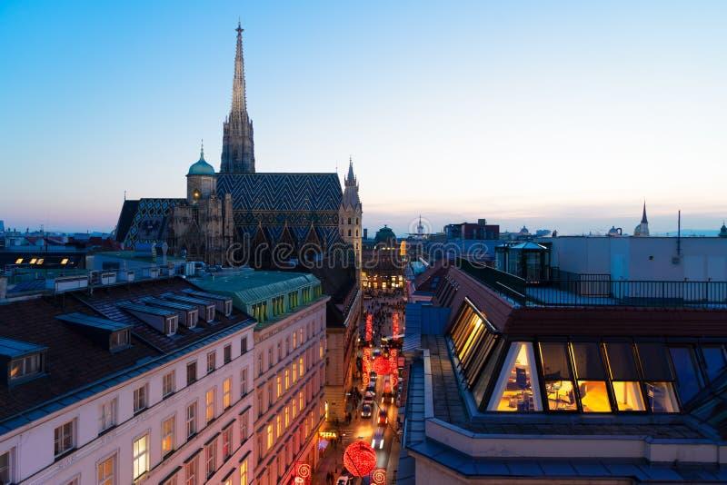 Cityscape of Vienna royalty free stock photos