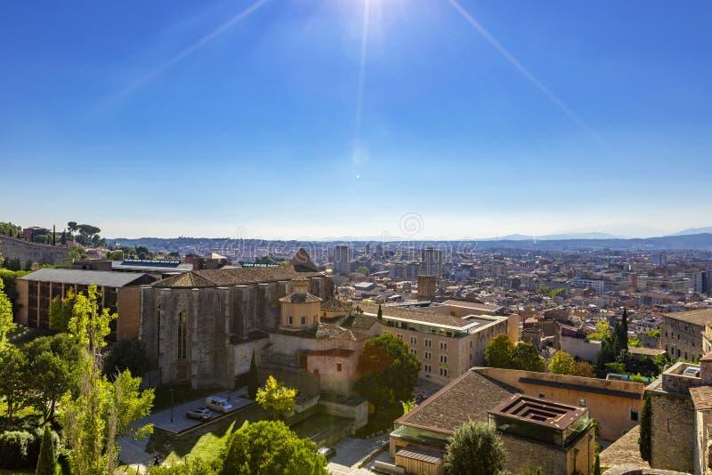 Cityscape, view of Girona, Catalonia, Spain royalty free stock photos