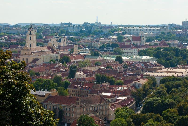 Cityscape of Vilnius, Lithuania stock photography