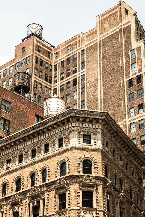 Cityscape of vintage New York City architecture stock photos