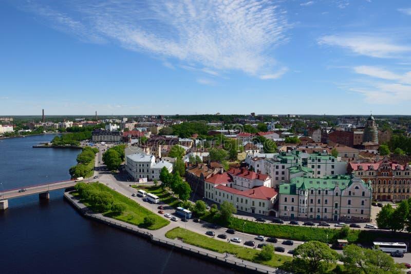 Cityscape of Vyborg, Russia royalty free stock photos