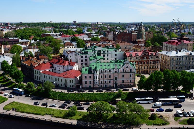 Cityscape of Vyborg, Russia stock image
