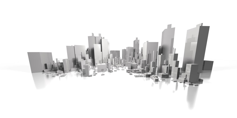 cityscape wide royaltyfri illustrationer