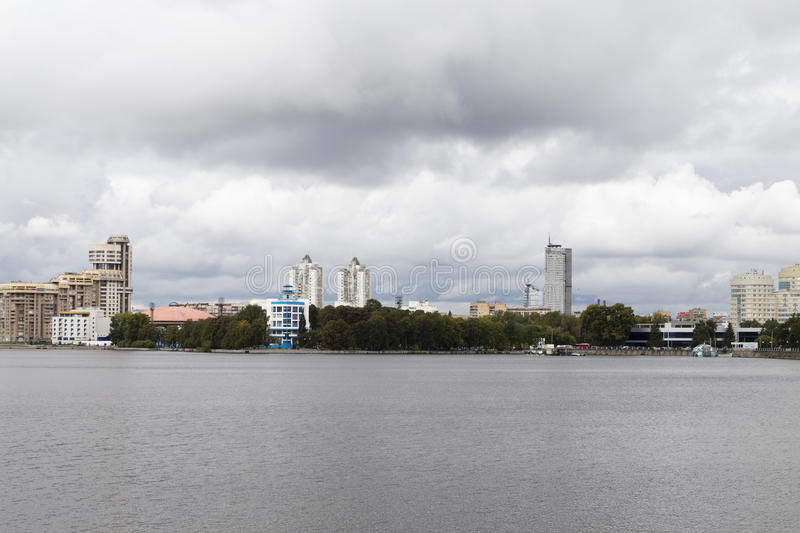 Cityscape in yekaterinburg ,russian federation royalty free stock image