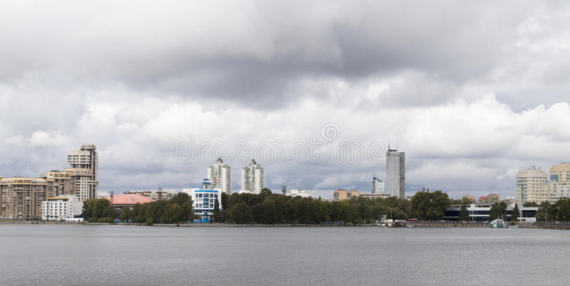 Cityscape in yekaterinburg ,russian federation stock photo