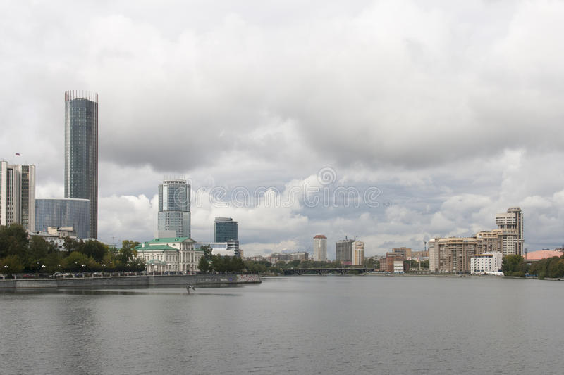 Cityscape in yekaterinburg ,russian federation. Cityscape is taken in yekaterinburg ,russian federation stock photo
