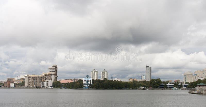 Cityscape in yekaterinburg, Russische federatie royalty-vrije stock foto