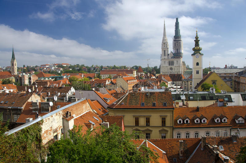 Download Cityscape of Zagreb stock image. Image of outdoors, religion - 28202897