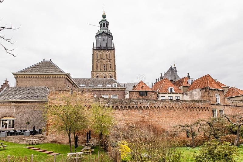Cityscape Zutphen in the Netherlands stock images