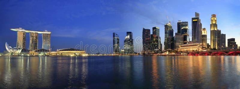cityscapeesplanadepanorama singapore royaltyfria foton