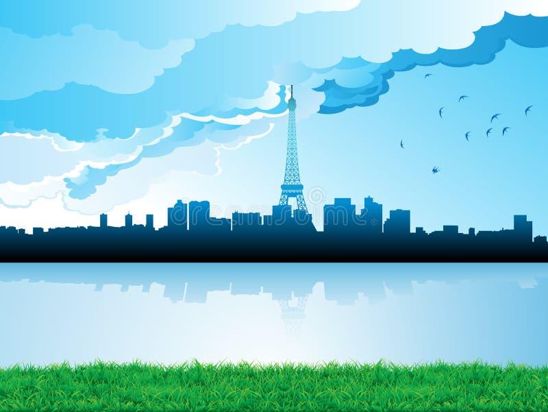 cityscapehorisont vektor illustrationer