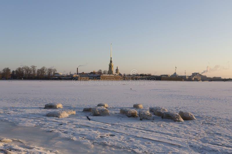 cityscapejanuari moscow russia vinter 2010 arkivfoton