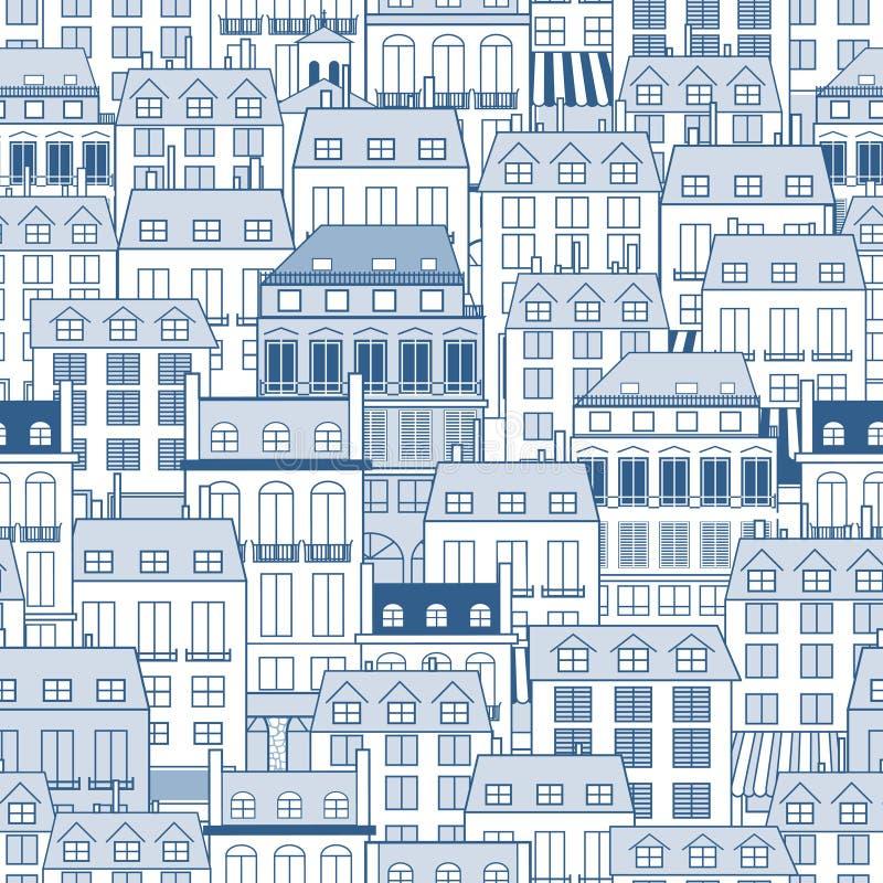 Cityscapemodell stock illustrationer