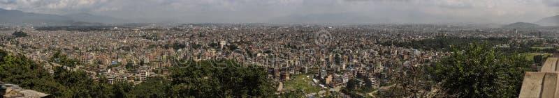 Cityscapepanorama av Katmandu nepal arkivbilder