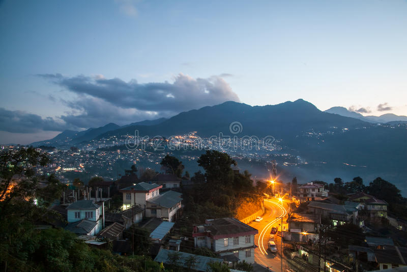Cityscapes at kohima. Nagaland india royalty free stock photography