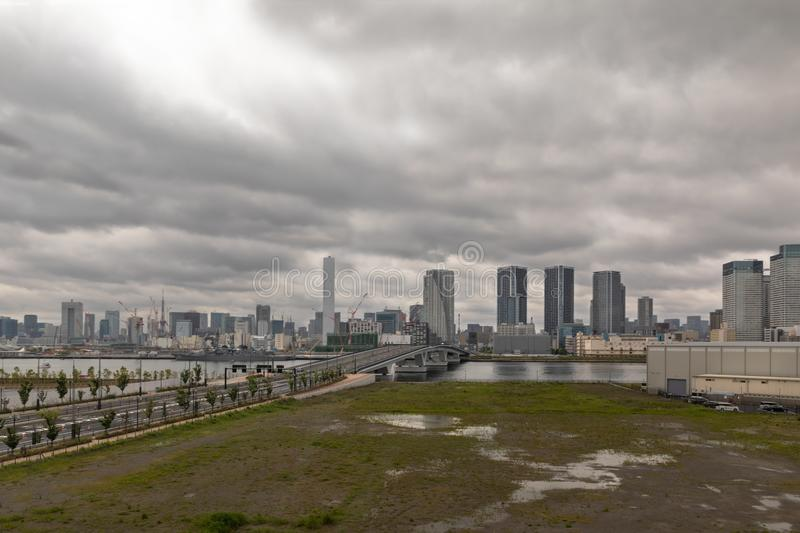Cityscapes of Tokyo, Skyline of Tokyo, office building of Tokyo,. Japan, Tokyo is the world`s most populars metropolis and centers for world business stock image