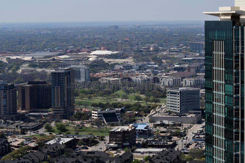 Cityscapes van Fort Worth royalty-vrije stock foto