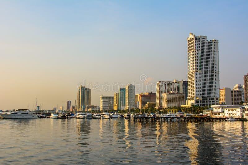 Cityscapy av Manila, Luzon ö, Filippinerna arkivfoto