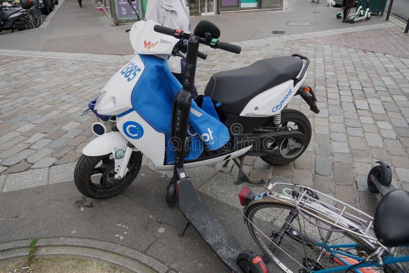 Cityscoot电滑行车 免版税库存照片
