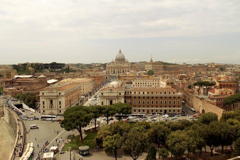 Cityview罗马 免版税库存照片