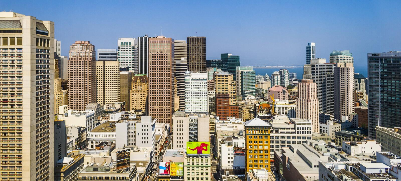Cityview του Σαν Φρανσίσκο στη μεσημβρία στοκ εικόνα με δικαίωμα ελεύθερης χρήσης
